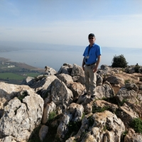 Joe near Arbel Cliffs Sea of Galilee